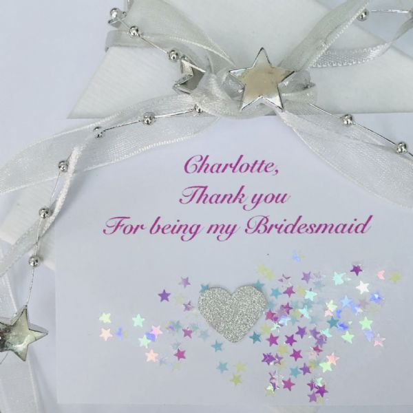 Jewellery gift bracelet for a bridesmaid / flower girl / matron of honour - FREE ENGRAVING